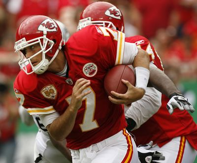 Matt Cassel will remain under center for the Kansas City Chiefs this weekend against the Philadelphia Eagles. (Associated Press / The Spokesman-Review)