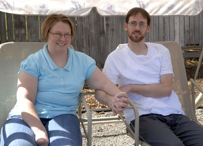 """For Jaime and Rick Wallace, the words """"in sickness and in health"""" from their wedding vows have taken on a profound meaning. They are junior high sweethearts, and Rick struggles with several medical conditions. (J. BART RAYNIAK / The Spokesman-Review)"""