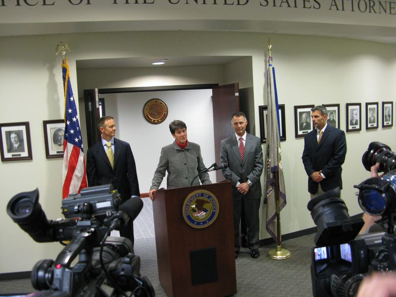 Wendy Olson, U.S. Attorney for Idaho, announces her decision not to file criminal charges after a 15-month investigation into contract issues between the state and Corrections Corporation of America (Betsy Z. Russell)