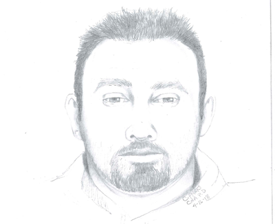 Couer d'Alene police released this sketch based on a sexual-assault victim's description of her attacker. The department is asking for help in identifying him. (Coeur d'Alene Police Department)