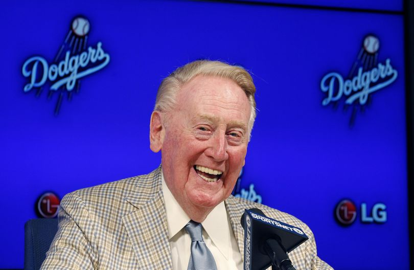 "Vin Scully said a path to Dodger Stadium is a ""pathway to his heart."" (AP / Associated Press)"