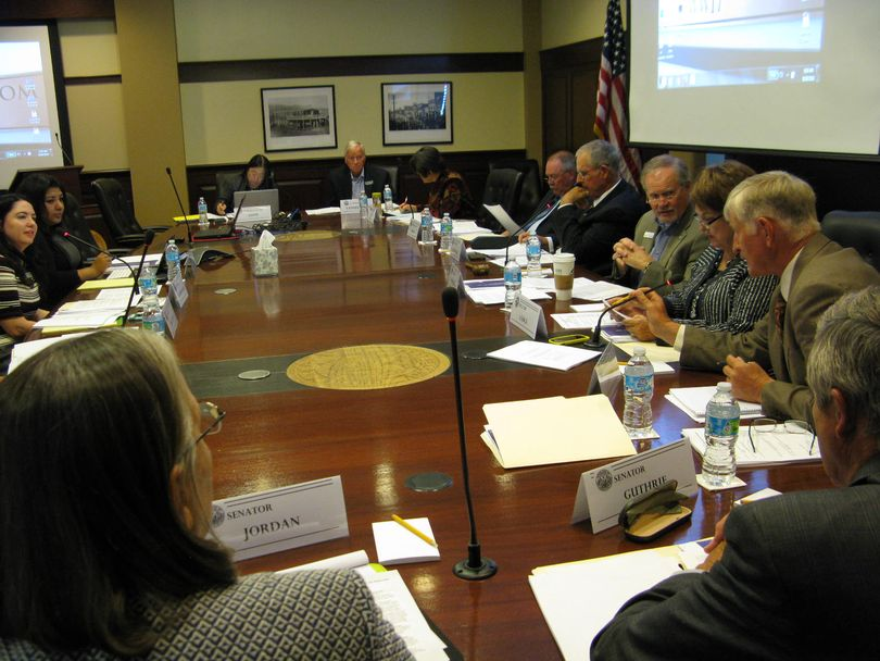 Idaho Legislature's working group on the state's health coverage gap meets Wednesday at the Capitol (Betsy Z. Russell)