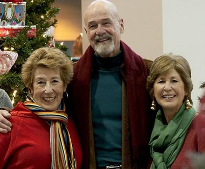 Ellen Travolta (left) and her sister Margaret Travolta (right), pictured with Ellen's husband Jack Bannon in 2014, will continue their holiday cabaret tradition in 2017, but as asking for reader-submitted stories to tell. (Kathy Plonka / The Spokesman-Review)