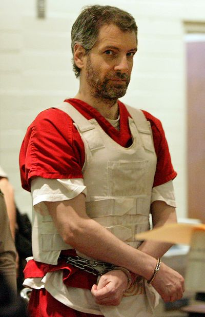 In this 2011 photo, Joseph E. Duncan III, stands in court in Indio, Calif. On Friday, a federal judge in Idaho affirmed two of three death penalties against Duncan for his 2005 sexual assault and killing of 9-year-old Dylan Groene, who was abducted from his home just east of Coeur d'Alene. (Terry Pierson / AP)