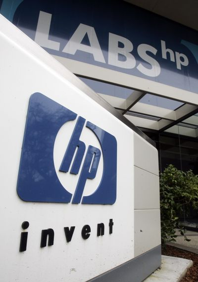 The Hewlett-Packard Co. in Palo Alto, Calif., is making significant market gains, which doesn't bode well for competitor Dell.  (Associated Press)