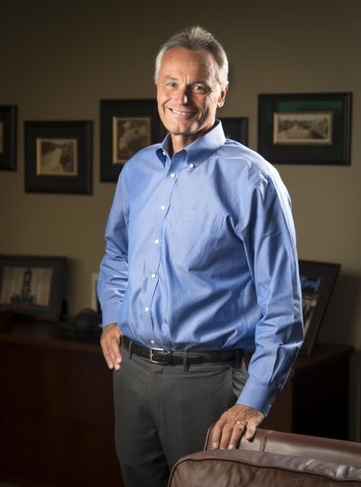 President and CEO Scott Morris' 35-year career at Avista Corp. started in 1981, when he was hired for an energy-efficiency program wrapping water heaters with insulation. (Colin Mulvany / The Spokesman-Review)