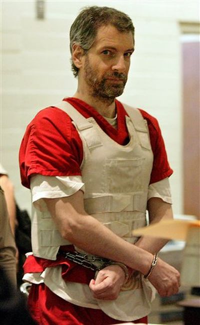 Joseph  Edward Duncan III stands in court on Tuesday, April 5, 2011 in Indio, Calif. Duncan convicted of killing a couple and two children in Idaho was sentenced to life in prison for torturing and killing a 10-year-old boy in California in 1997. Duncan III was sentenced to two life terms in Riverside County Superior Court for the murder of Anthony Martinez, who was abducted as he played with his brother near their Beaumont home. The boy's battered, nude body was later found in the desert. Duncan, who had pleaded guilty and waived his right to an appeal in an agreement with prosecutors, was sentenced to two life terms because of a prior criminal conviction before Anthony's murder, District Attorney spokesman John Hall said. (Terry Pierson / (AP Photo/ The Press-Enterprise, Terry Pierson)