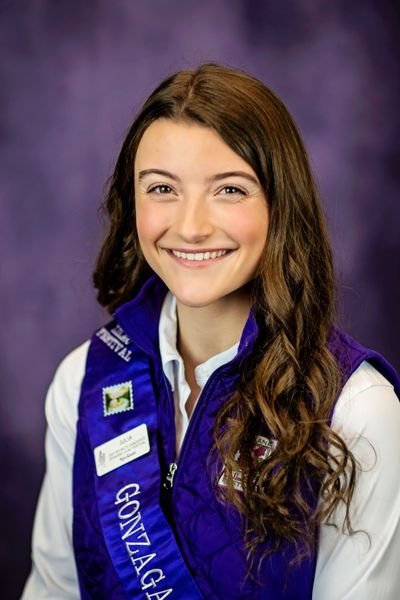 Julia McIntyre, a student at Gonzaga Preparatory School, is the 2021 queen of the Spokane Lilac Festival's Royal Court.  (Courtesy of the Spokane Lilac Festival)