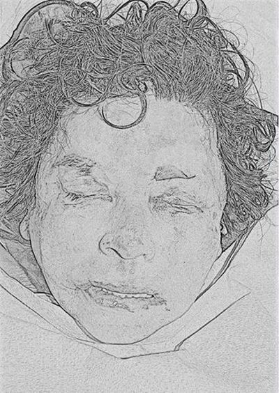 This sketch shows a woman pulled from the Spokane River on Jan. 10, 2014. The Spokane County Medical Examiner's Office is looking for help identifying her.  (Spokane County Medical Examiners Office)