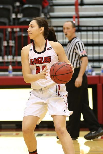 Eastern Washington senior Hayley Hodgins has a great chance to become the Eagles' all-time leading scorer.