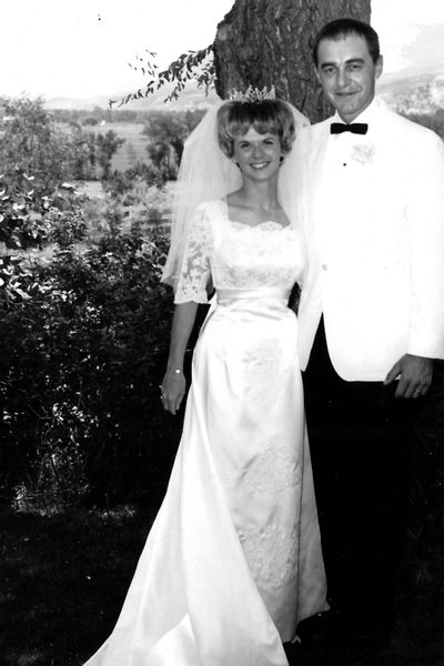 Bob and Nancy Frankovic on their wedding July 23, 1966, in Salmon Idaho. (Courtesy of family)