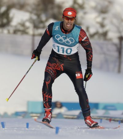 Pita Taufatofua, of Tonga, competes during the men's 15km freestyle cross-country skiing competition at the 2018 Winter Olympics in Pyeongchang, South Korea, Friday, Feb. 16, 2018. (Kirsty Wigglesworth / Associated Press)