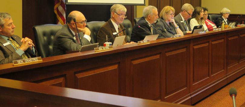 The Idaho Senate Education Committee hears testimony on proposed school science standards dealing with climate change, on Feb. 27, 2017, at the Capitol in Boise. (Betsy Z. Russell)