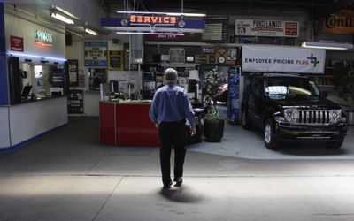 Stanley Balzekas III walks through  Balzekas Motor Sales Inc. – which has been part of the Chrysler family since 1933 – in Chicago on Thursday. The dealership is one of 789 Chrysler wants to close.  (Associated Press / The Spokesman-Review)
