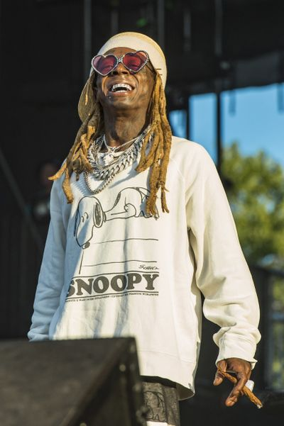 Lil Wayne performs on day three of Lollapalooza in Grant Park on Saturday, Aug. 3, 2019, in Chicago. Lil Wayne on Thursday, Oct. 29,  2020, became the latest rapper to endorse President Donald Trump for re-election.  (Amy Harris/Associated Press)